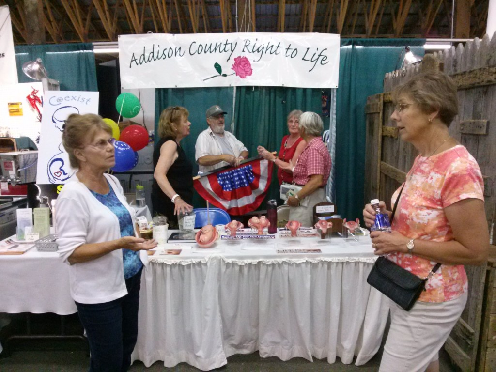 Addison County Right to Life Booth at the County Fair